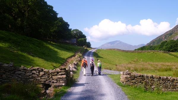 walking Llyndy Isaf drive